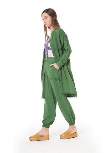 Vivencia Zincir Aksesuarlı Yeşil Spor Pantolon Yeşil